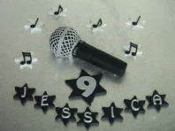 Microphone Cake Topper, Music Notes Name & Number